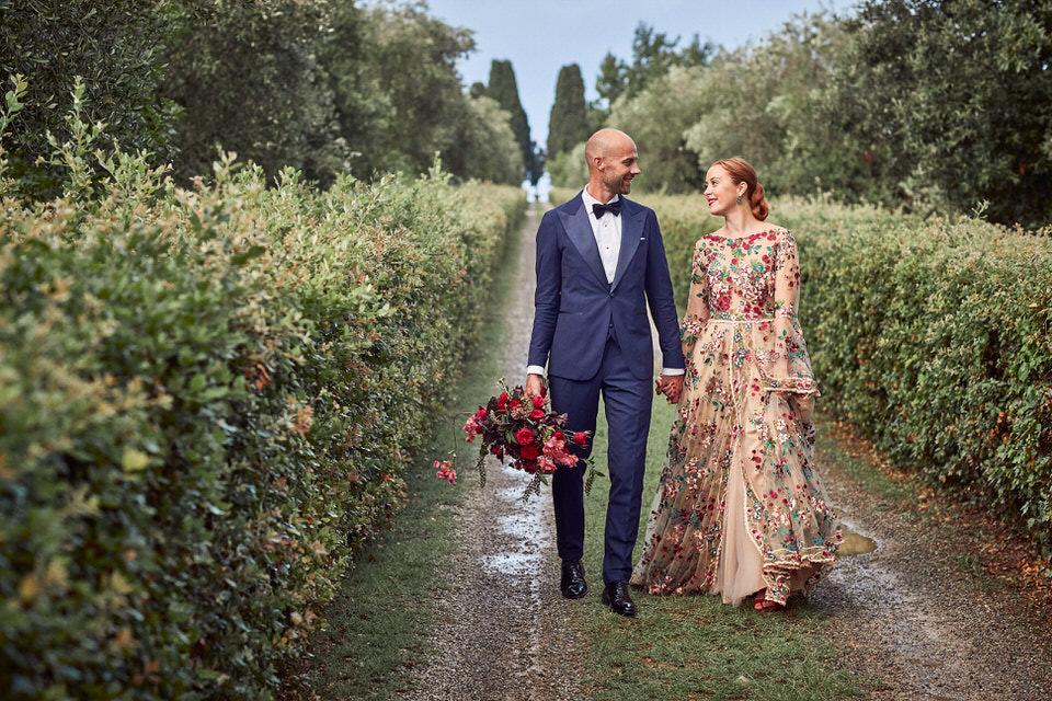 Villa Catignano wedding in Tuscany